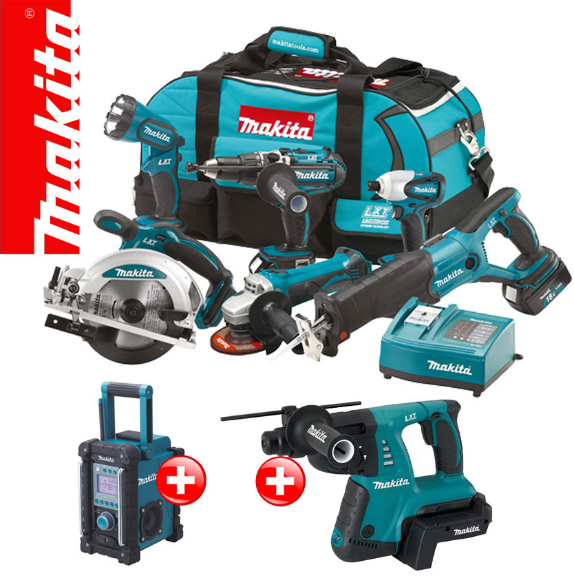 makita 13tl 18v profi akku set bmr102 bhr261 36v kombihammer bcv02 z rde trde ebay. Black Bedroom Furniture Sets. Home Design Ideas